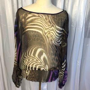 Bebe animal print blouse